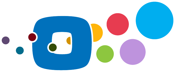 Oarex logo with color circles